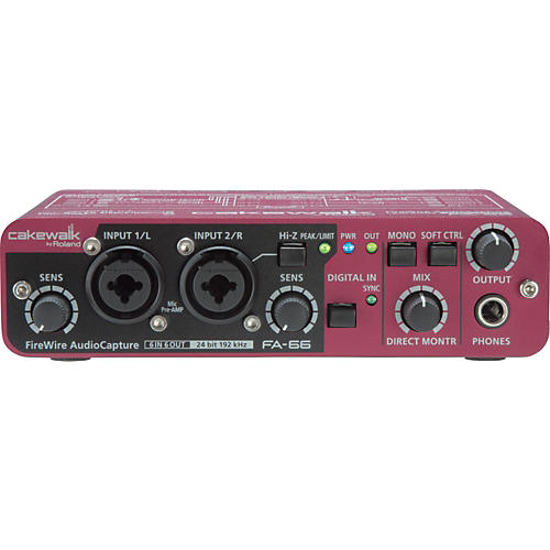 Cakewalk FA-66 FireWire Audio Capture Interface