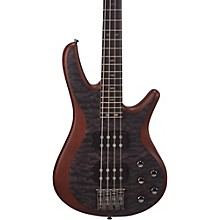 Mitchell FB700 Fusion Series Bass Guitar with Active EQ Transparent Black