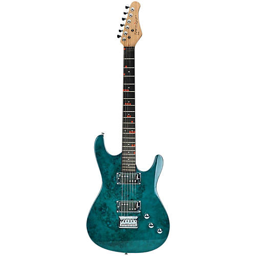 fretlight fg 561 pro electric guitar with built in lighted learning system pacific blue. Black Bedroom Furniture Sets. Home Design Ideas