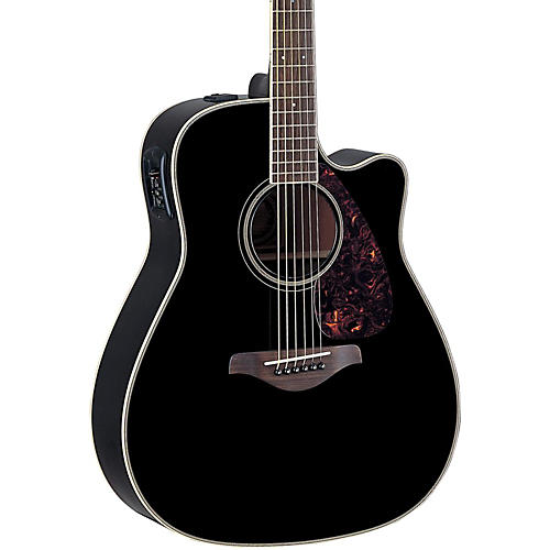 Yamaha FG Series FGX720SCA Acoustic-Electric Guitar Black