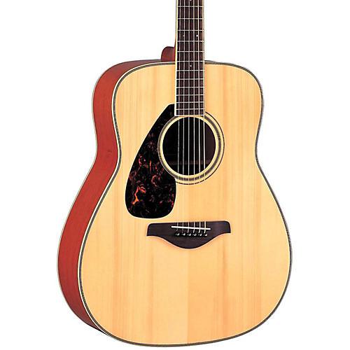Yamaha FG720SL Left-Handed Folk Acoustic Guitar Natural