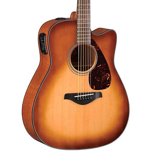 Yamaha FGX700SC Solid Top Cutaway Acoustic-Electric Guitar Sand Burst