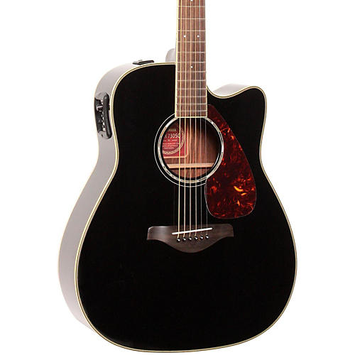 yamaha fgx730sc solid top acoustic electric guitar black musician 39 s friend. Black Bedroom Furniture Sets. Home Design Ideas