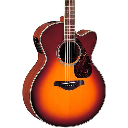 Yamaha FJX720SC Solid Spruce Top Mahogany Acoustic-Electric Guitar-thumbnail