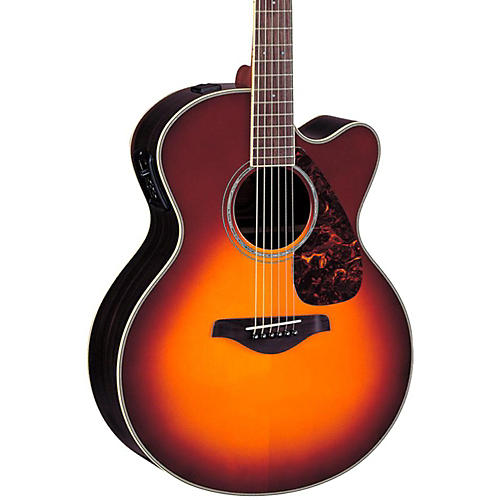 Yamaha FJX730SC Solid Spruce Top Rosewood Acoustic-Electric Guitar Brown Sunburst