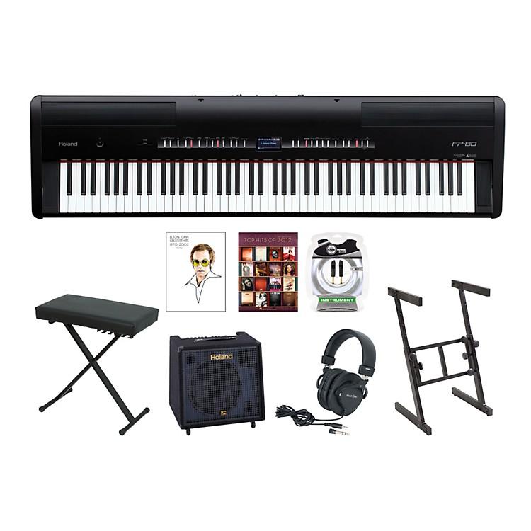 roland fp 80 keyboard package musician 39 s friend. Black Bedroom Furniture Sets. Home Design Ideas