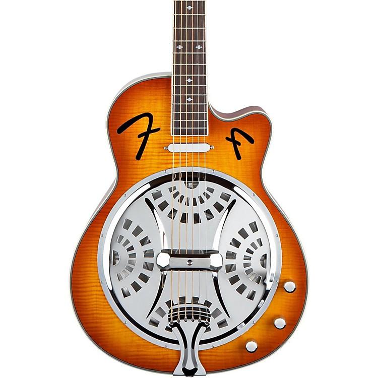 FenderFR50CE Cutaway Acoustic-Electric Resonator GuitarSunburst