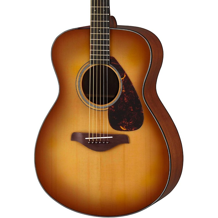 Yamaha fs700s solid top concert acoustic guitar sand burst for Yamaha solid top