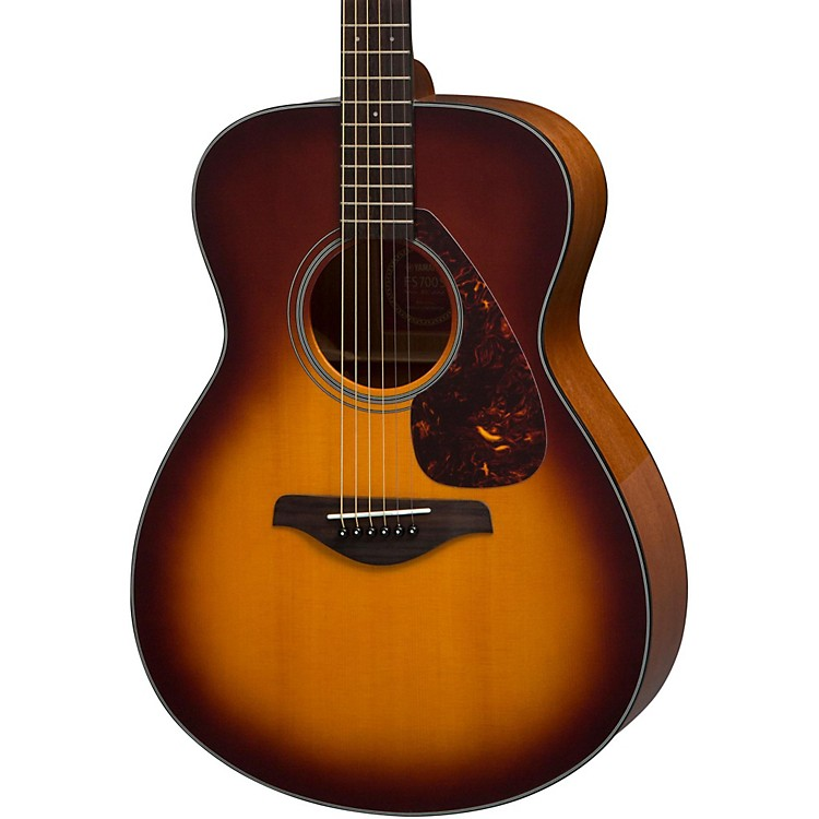 Yamaha fs700s solid top concert acoustic guitar tobacco for Yamaha solid top