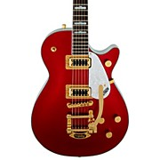 FSR Two-Tone Electromatic Pro Jet with Bigsby Electric Guitar Candy Apple Red and White
