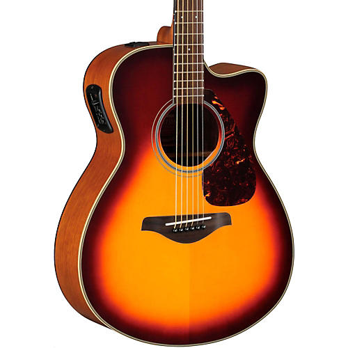 Yamaha FSX700SC Solid Top Concert Cutaway Acoustic-Electric Guitar Brown Sunburst
