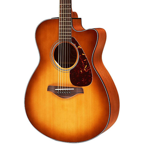 yamaha fsx700sc solid top concert cutaway acoustic electric guitar sand burst 888365802268. Black Bedroom Furniture Sets. Home Design Ideas