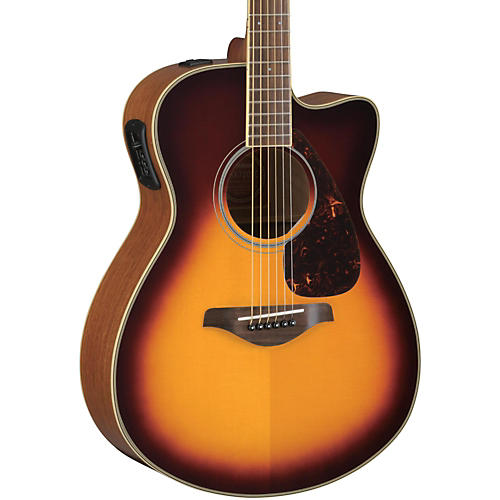 Yamaha FSX730SC Solid Top Concert Cutaway Acoustic-Electric Guitar-thumbnail