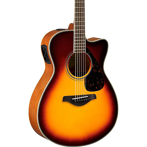 Yamaha FSX820C Small Body Acoustic-Electric Guitar Brown Sunburst