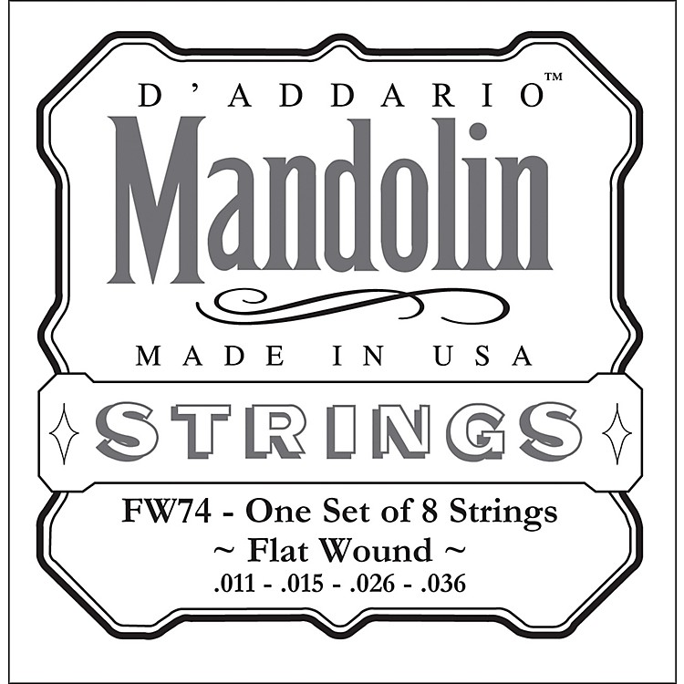D'Addario FW74 Flatwound Medium Mandolin Strings