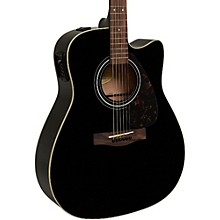 Yamaha FX335C Dreadnought Acoustic-Electric Guitar Black