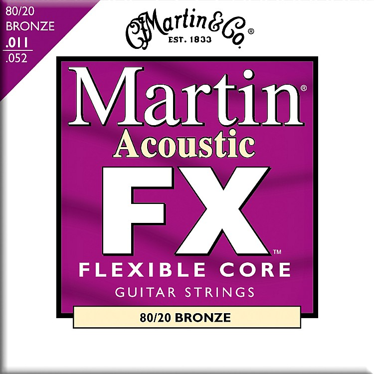 Martin FX675 Custom Light 80/20 Bronze Acoustic Guitar Strings
