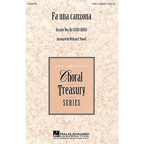 Hal Leonard Fa Una Canzona TTBB A Cappella arranged by William Powell-thumbnail