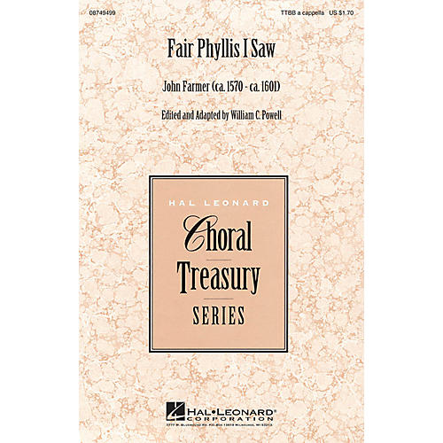 Hal Leonard Fair Phyllis I Saw TTBB A Cappella composed by John Farmer-thumbnail