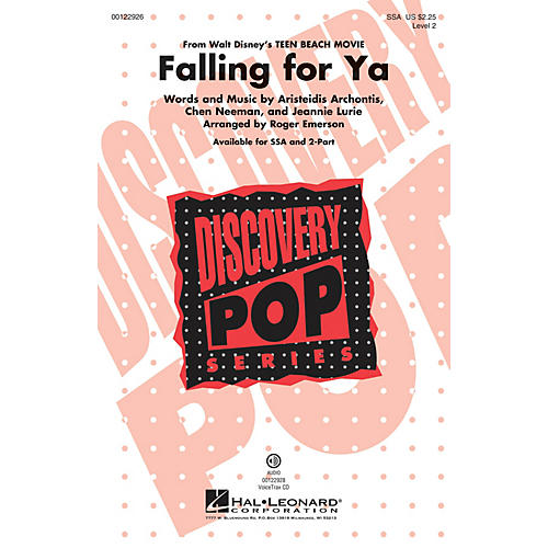Hal Leonard Falling for Ya (from Disney Teen Beach Movie Discovery Level 2) SSA arranged by Roger Emerson-thumbnail