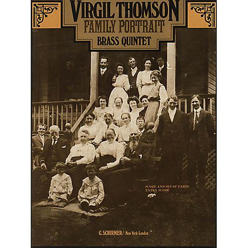 G. Schirmer Family Portrait (Score and Parts) Brass Ensemble Series by Virgil Thomson-thumbnail