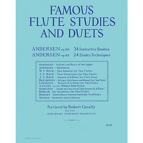 Hal Leonard Famous Flute Studies and Duets (The Big Blue Book) Robert Cavally Editions Series-thumbnail