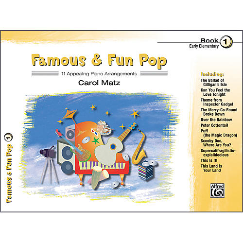 Alfred Famous & Fun Pop Book 1 Piano