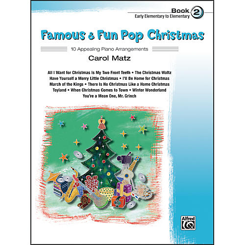 Alfred Famous & Fun Pop Christmas Book 2-thumbnail