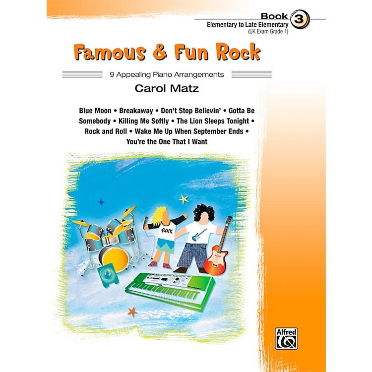 AlfredFamous & Fun Rock, Book 3