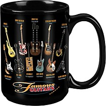 Taboo Famous Guitars Black Mug 15 oz