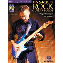 Hal Leonard Famous Rock Guitar Solos Signature Licks Book with CD