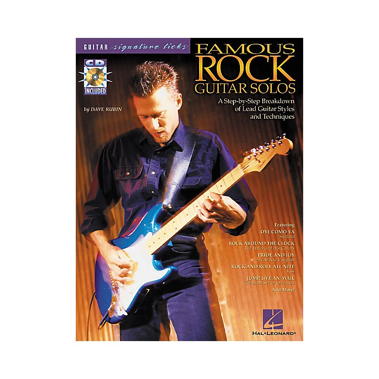 Hal Leonard Famous Rock Guitar Solos Signature Licks Book with CD