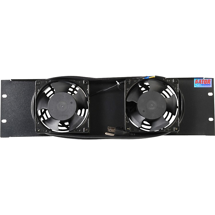 Gator Fan Panel, UL approved 3U with 2 Ball Bearing Fans