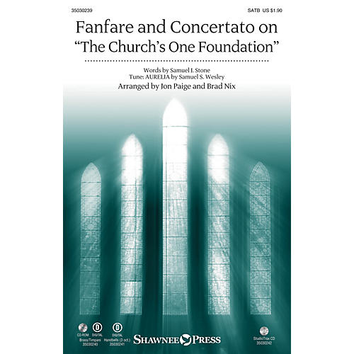 Shawnee Press Fanfare and Concertato on The Church's One Foundation Studiotrax CD Arranged by Jon Paige-thumbnail