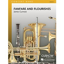 Curnow Music Fanfare and Flourishes (Grade 4 - Score Only) Concert Band Level 4 Composed by James Curnow