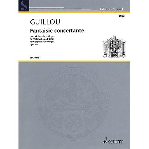 Schott Fantaisie Concertante, Op. 49 (for Violoncello and Organ) Ensemble Series Softcover-thumbnail
