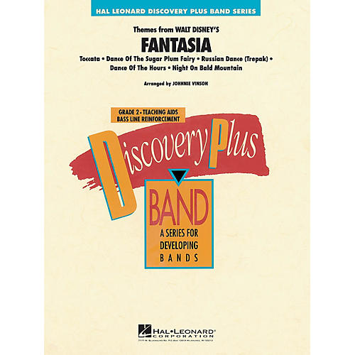 Hal Leonard Fantasia, Themes from - Discovery Plus Concert Band Series Level 2 arranged by Johnnie Vinson-thumbnail