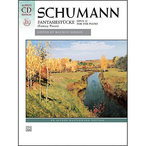 Alfred Fantasiestucke, Op. 12 by Robert Schumann Book & Naxos Label CD-thumbnail