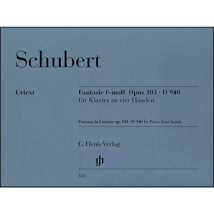 G. Henle Verlag Fantasy F Minor Op. 103 D940 for 1 Piano, 4 Hands By Schubert