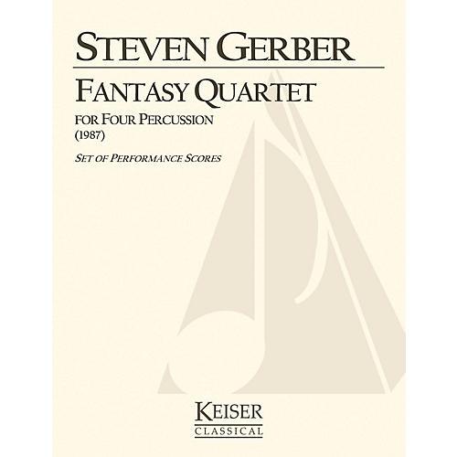 Lauren Keiser Music Publishing Fantasy Quartet (for Percussion) LKM Music Series Composed by Steven Gerber-thumbnail