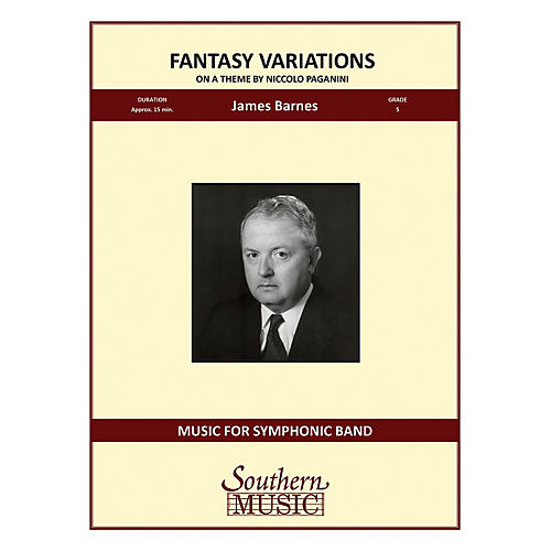 Southern Fantasy Variations on a Theme of Paganini Concert Band Level 5 Composed by James Barnes-thumbnail