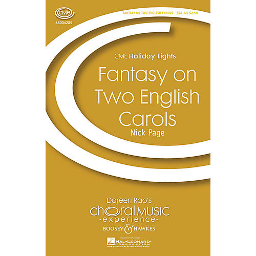 Boosey and Hawkes Fantasy on Two English Carols (CME Holiday Lights) SSA arranged by Nick Page-thumbnail