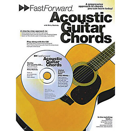 Music Sales Fast Forward - Acoustic Guitar Chords Music Sales America Series Softcover with CD by Rikky Rooksby-thumbnail