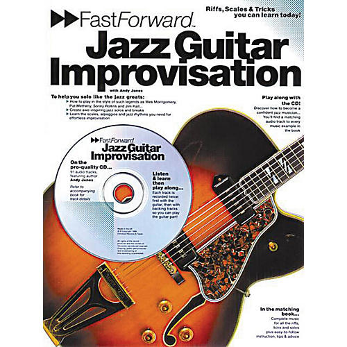 Music Sales Fast Forward - Jazz Guitar Improvisation Music Sales America Series Softcover with CD by Andy Jones-thumbnail