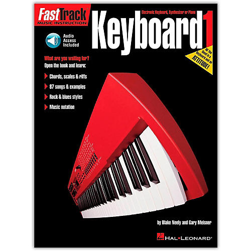 Hal Leonard Fast Track Keyboard Method Book 1 (Book/Online Audio)-thumbnail