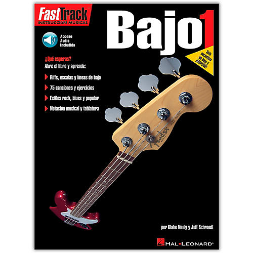 Hal Leonard Fast Track Method Bajo 1 Spanish Edition (Book/CD)-thumbnail