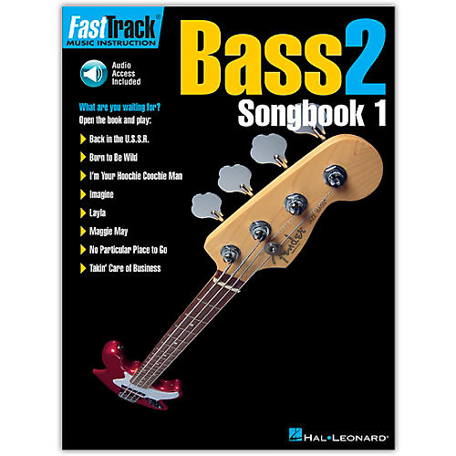 Hal Leonard FastTrack Bass Songbook 1 Level 2 (Book/Online Audio)-thumbnail