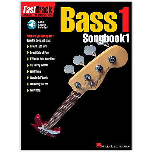Hal Leonard FastTrack Bass Tab Songbook 1 (Book/Online Audio)-thumbnail