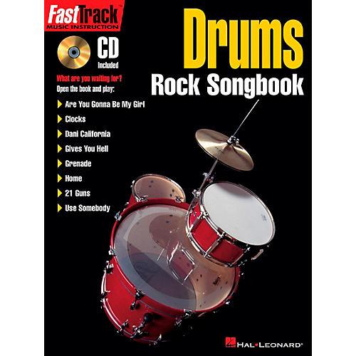 Hal Leonard FastTrack Drums Rock Songbook Book/CD