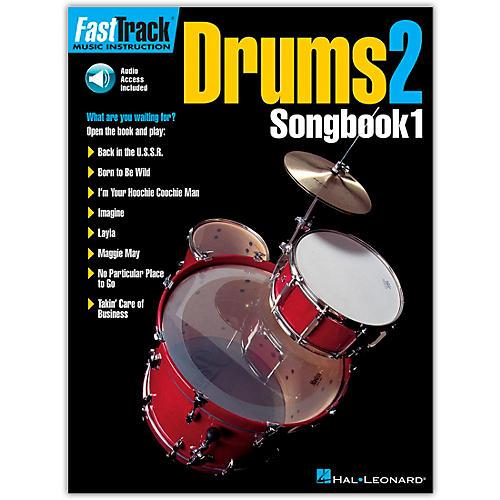 Hal Leonard FastTrack Drums2 Songbook 1 (Book/Online Audio)